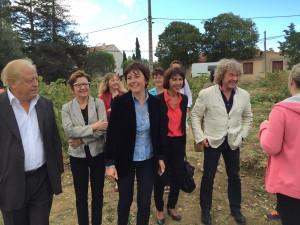 En visite à Argeliers avec Carole Delga