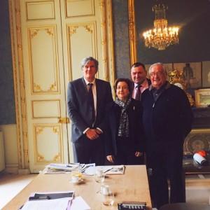 La délégation audoise reçue dans le bureau du ministre. Photo DDM